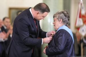 Odznaczenie prof. Grazyny Swiateckiej Orderem Orla Bialego